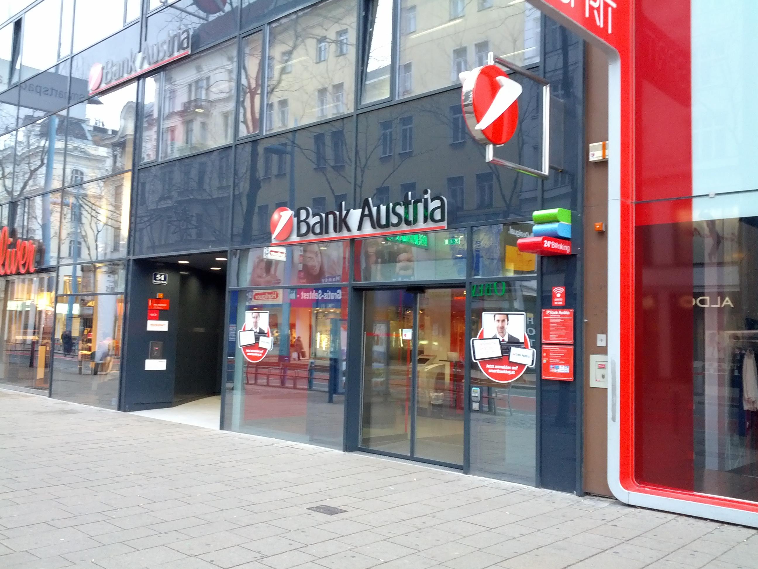 Bank Austria Mariahilfer Straße Stadtdirektion Wien Unicredit