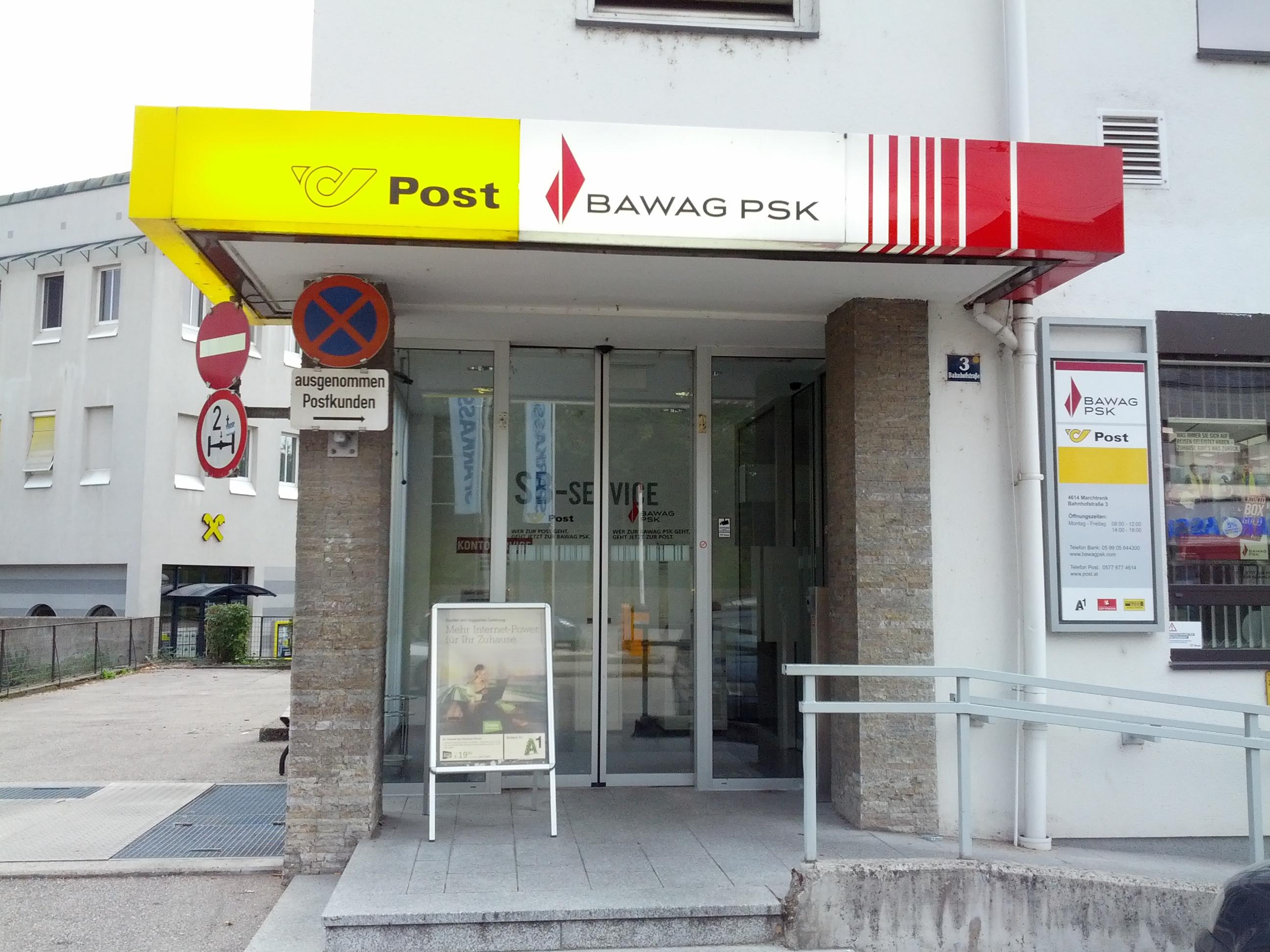 BAWAG P.S.K. Bank für Arbeit und Wirtschaft und Österreichische Postsparkasse AG Filiale Marchtrenk (Postservice)