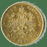 4 Gulden Münze - Rückseite