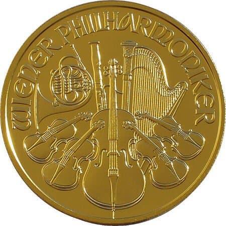 Wiener Philharmoniker Gold 14 Unze Nennwert 500 Ats Die